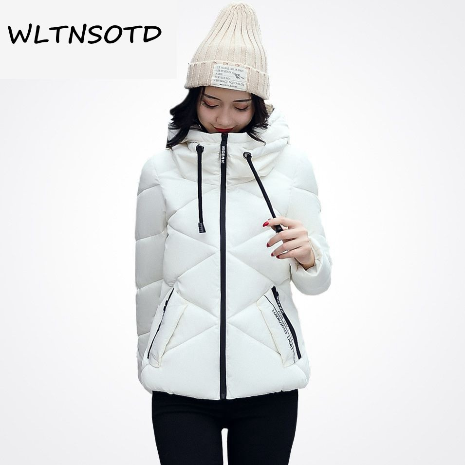 Ukraine Promotion Top Fashion Full 2017 Women Solid Winter Jacket Design Hooded Coat Female Epaulet Parka Cotton Warm Short Îäåæäà è àêñåññóàðû<br><br>