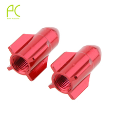 PCycling 2pcs CNC ALuminum Car Bicycle Gas Nozzle cap Schrader valve Cap Rocket Modeling Gas Nozzle Valve Dust Cap Cover
