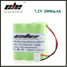 Eleoption 7.2V Ni-MH Battery For iRobot Braava 320 321/Mint 4200 4205 Floor Cleaner Robot 4408927 7.2 Volt(China)