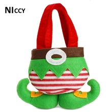 1pc Christmas Cute Hand Bags For Candy Fruits Food 21*18cm Fhion Shaped Storage Bag Chrismas Party Organizer Storage 2017 New