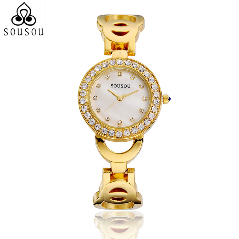 New Collection for Women Fashion Ladies Watches Gold Watch Diamonds Decorated Horloge Dames Montre Femme  <br><br>Aliexpress