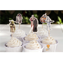 48pcs The Star Wars heroes Cupcake Toppers Cake Party Decorations Festive Holiday Event And Kids Birthday Party Favors Supply