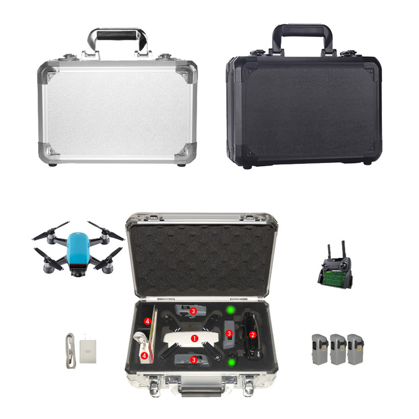 Waterproof Portable Carrying Storage Aluminum Case Box for DJI Spark FPV Drone drop shipping 0710