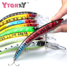 1PCS 15.5cm 15.3g Wobbler Fishing Lure Big Minnow Crankbait Peche Bass Trolling Artificial Bait Pike Carp lures YE-252