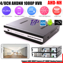 AHDNH DVR 4Channel 8Channel AHDNH CCTV AHD DVR Hybrid DVR/1080P NVR 4in1 Video Recorder For AHD Camera IP Camera Analog Camera