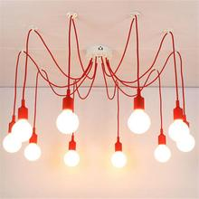 J Vintage Style Pendant Lights 10 Heads E27 Silicone Lamp Holder Lighting For Modern Bar Restaurant Bedrooms Shop Mall