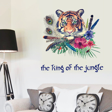 62 x 59 cm Tiger Stickers Wall Sticker Wall Art Home Decoration Accessories Bedroom Decor Wall Stickers Home Decor Living Room(China)