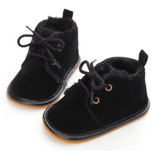 Baby Boots Toddler Boys Girls Winter Soft Sole Non-slip First Walkers Thickening Warm Baby Shoes Newborn 0-18 Months Baby Boot