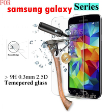 9H Tempered Glass For Samsung galaxy s7562 Trend i9082 G530 G355H G360 A3 A5 Alpha Note2 Note3 Note4 Note5 Screen Protector Film(China)