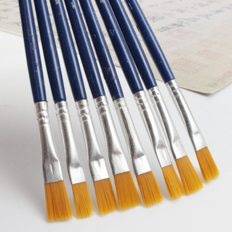 10Pcs/Set Fine Oil painting brush acrylic painting digital painting children's environmental nylon brush row pen Stationery
