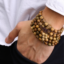 108 * 0.8 Verawood  Prayer Beads  Tibetan Buddhist  Wooden Bracelet  Mala Buddha  Bangle  Rosary Necklace Jewelry