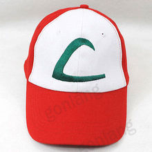 New Anime Pokemon Figure ASH KETCHUM trainer costume cosplay hat cap(China)