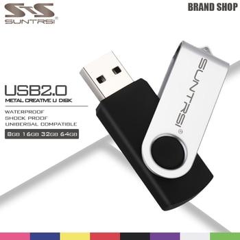 Suntrsi Pendrive 64 ГБ Металл USB Flash Drive 16 ГБ Высокая Скорость Pen Drive Популярных USB Stick Реальная Емкость USB Флэш-Оптовый цена