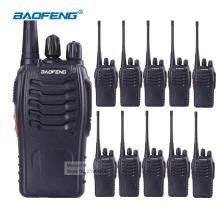 10pcs BaoFeng BF-888S Best Walkie Talkies Long Range Portable Two Way Radio CB Ham Radio Handheld Amateur Radio Scanner Earpiece(China)
