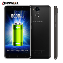 "Blackview P2 Lite 4G Cell phone MT6753 Octa Core 3G+32GB Android 7.0 Mobile phone 5.5""FHD 6000mAh 13MP Fingerprint Smartphone"