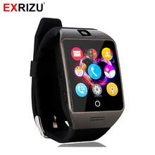 EXRIZU Q18s Bluetooth Smart Watch Support 2G GSM SIM Card Audio Camera Fitness Tracker Smartwatch for Android iOS Mobile Phone(China)