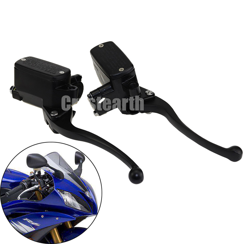 2x 7/8 22mm Motorcycle Front Brake Clutch Master Cylinder Motorbike Hydraulic Pump Motorbike Brake Lever For Yamaha YFZ450 YFM<br>