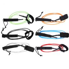 6ft 5.5mm Surfing Leash TPU Surfboard Leash Double Swivels Stand Up Paddle Board Leash Coiled Ankle Leash Surfing Sports Rope(China)