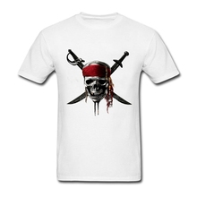 Pirates of the Caribbean Fashionable T Shirts Plus Size Male Summer  Cotton T-shirt