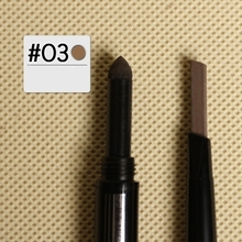 BY NANDA Brand 2 IN 1 Automatic Makeup No.O03 Eyebrow Waterproof Permanent Eyebrow Pencil Cosmetics Brow Eye Liner Tools 6 Color(China)