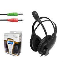 Good Quality Stereo Bass Headphones Gaming Headset 3.5mm Earphone With Wire Control Microphone For Computer PC Gamer For Skype