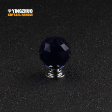 2017 Knob Tiradores Muebles K9 Crystal Handle Diamond Glass Door Cabinet Drawer 1pcs 30mm Ball In Hand Wholesale Single Hole