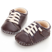 New Cheap White Baby Sneakers Newborn Boys Girls Shoes Outdoor Kids Children Leather Hard Soled Boots Baby First Walkers Booties(China)