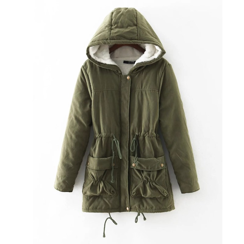 European New Winter Long Jacket Women 2017 Hooded Casual Warm Parka Outerwear Coat Female Padded Manteau Femme Army Green YC650Одежда и ак�е��уары<br><br><br>Aliexpress