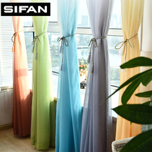 3d Printed Kitchen Decorations Window Treatments Tulle Curtains for Living Room Divider Sheer Voile curtain(China)