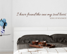 I Have Found The One My Soul Loves Love Quotes Wall Stickers Decorative DIY Lovers Love Lettering Quote Wall Art Decals Q138