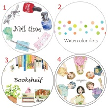 Bookshelf Nail Polish Cheongsam Girl Washi Paper Tape Office Adhesive Tape Planner Washitape Kawaii School Supplies