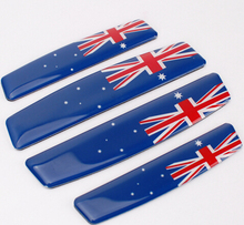 4 Pcs/Set Truck Auto Car Door Edge Guard Scratches Protection Decorative Sticker Decal for Australian Flag