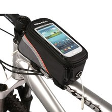 Good deal Roswheel Cycling Frame Front Top Tube Bag Waterproof for 4.8 inch Cell Phone Red Black