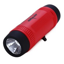 Hot 4 in 1 Outdoor Bluetooth Speaker Portable Wireless Bicycle Flashlight Speaker 4000mAh Power Bank FM Radio with TF Card Slot