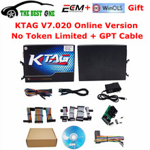2017 Newest KTAG V7.020 SW V2.23 Online Master Version K TAG 7.020 100% No Token Tuning For Car Truck K-TAG ECU Programming Tool
