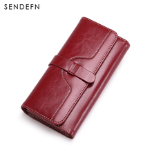 Buy 1 Get 1 Free New Womens Purse Casual Wallet Button Wallet Women Large Capacity Purse Women Wallets Vintage Women Wallets(China)
