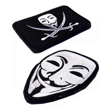 V vendetta Chapter 2 Patches armband embroidery the tactical military patches badges for clothes clothing HOOK/LOOP 8*6CM