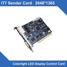 RGB LED Display Sign Controller Synchronous 2048*1365 Pixels Video T7 Sending Card led display sender