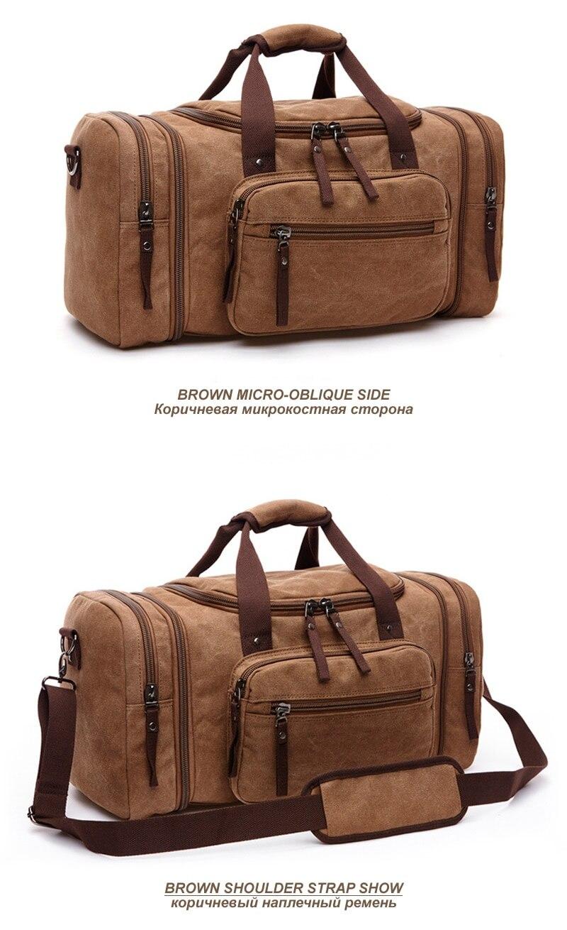 dbe1f6faa683 BERAGHINI Large Capacity Travel Bags For Men Canvas Handbag Multi ...