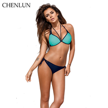 CHENLUN Swimwear Bikini 2017 new sexy bikini ladies swimsuit solid beach suit bikini Brazil suit XXL(China)