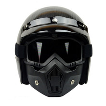 VCOROS Modular Mask Detachable Goggles And Mouth Filter Perfect for Open Face Motorcycle Half Helmet and Vintage Helmets(China)