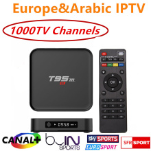 Quad Core S905 Android 6.0 TV Box T95M with 1 Year Europe French Arabic IPTV iprotv Account 1300 Live TV Canal plus Free test