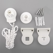 SDFC Window Treatments Hardware Roller Blind Shade Cluth DIY Bracket Bead Chain 25mm Kit Control Ends for home decor
