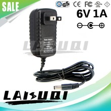 1pcs 6V 1A 1000mA DC5.5mm*2.5mm US Plug AC/DC Power Adapter 6V1A Supply Charger LAISUQI New Special Offer(China)