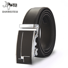 [DWTS]Designer Belts Men High Quality Male Brand genuine Leather Belts for Men Automatic Buckle Strap free shipping(China)