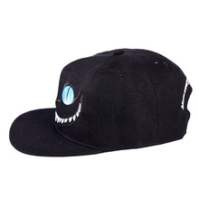 2017 New Pattern Cheshire Cat Baseball Hat Korean Embroidery Letter Pure Cotton Hip Hop Hat Yan Ping Lovers Baseball Hats(China)