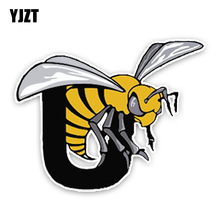 YJZT 13.7CM10.9CM Lovely Cartoon Hornets Colored PVC Car Sticker Bumper Window Graphic Decoration C1-5140(China)
