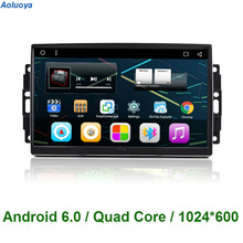 Aoluoya Android 6.0 CAR DVD GPS Navigation For Chrysler 300C Jeep Cherokee Commander Compass Wrangler Dodge Journey 2004-2008(China)