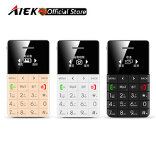 New Mini Ultra-thin Card Phone AEKU Q5 Support TF Card Bluetooth Dialer Low Radiation Kids Students Mobile Phone PK AIEK M5 E1(China)