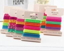 Neon Colorful Gum Ties Elastic Hair Bands Ponytail Holders Headband Scrunchy Colorful Hair Accessories Gum for Hair